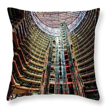 Throw Pillow featuring the photograph James R Thompson Center Interior Chicago by Deborah Smolinske