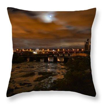 James River At Night Throw Pillow