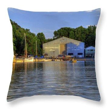 James River Marina 2 Throw Pillow