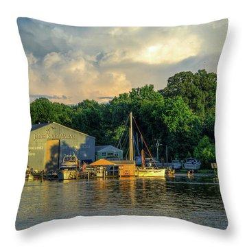 James River Marina Throw Pillow