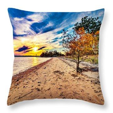 James River Sunset Throw Pillow