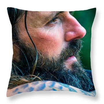 Throw Pillow featuring the photograph Jamesie 2 by Brian Stevens