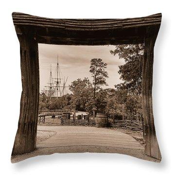 Throw Pillow featuring the photograph Jamestown by Nigel Fletcher-Jones