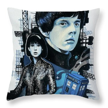 Jamie And Zoe Throw Pillow by Tom Carlton