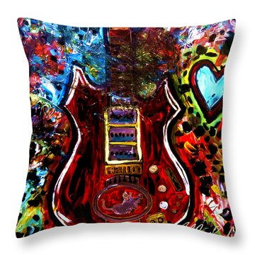 Jaming With Garcia Throw Pillow