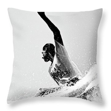 Throw Pillow featuring the photograph Jammin by Nik West