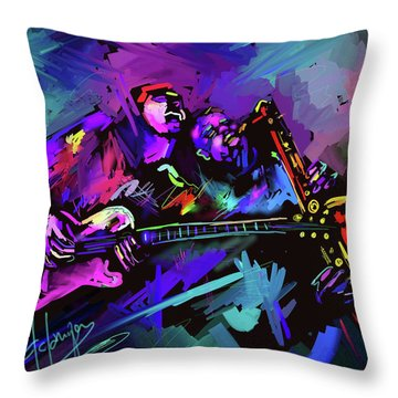 Jammin' The Funk Throw Pillow
