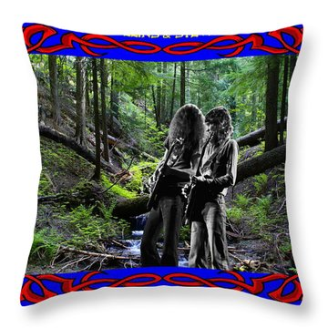 Throw Pillow featuring the photograph Jamming On Mt. Spokane 1 by Ben Upham