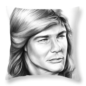 Jan Michael Vincent Throw Pillow by Greg Joens