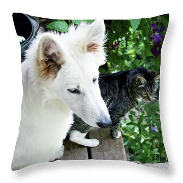 Jane And Katie Throw Pillow