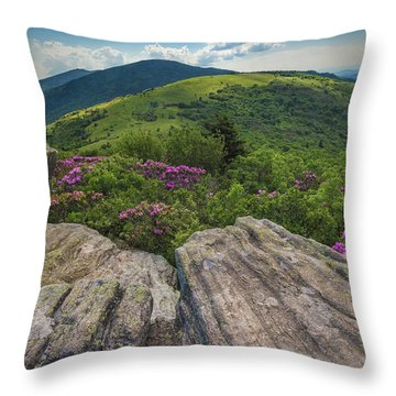 Jane Bald Rhododendrons Throw Pillow
