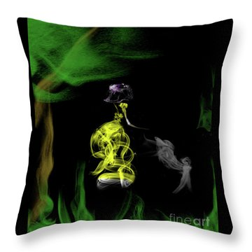 Jane Of The Jungle Throw Pillow