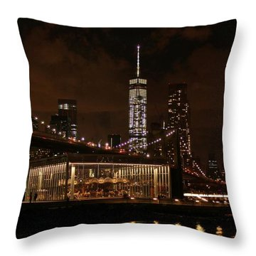 Jane's Carousel  Throw Pillow