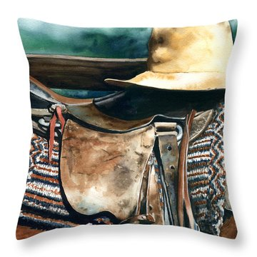 Janessa's Hat Throw Pillow by Nadi Spencer