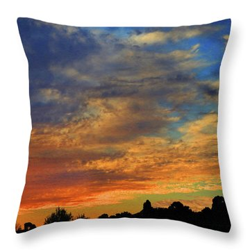 Throw Pillow featuring the photograph Jangly Sunset by Mark Blauhoefer