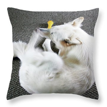 Janie Is A Painey Throw Pillow