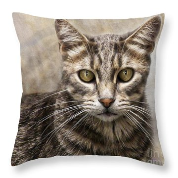 Janie's Kitty Throw Pillow