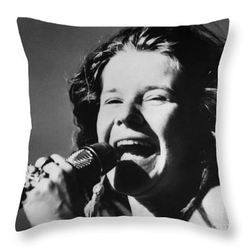 Janis Joplin (1943-1970) Throw Pillow
