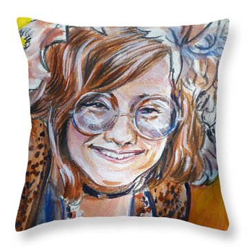 Janis Joplin Throw Pillow