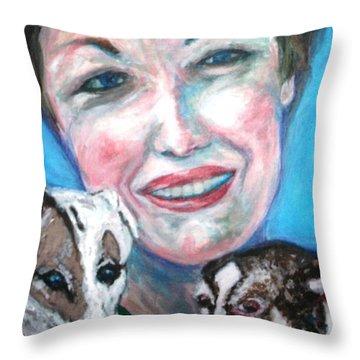 Jann,merry Wish,johnny Throw Pillow