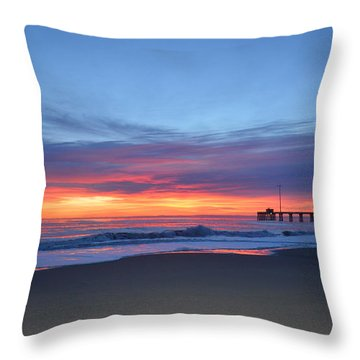 Throw Pillow featuring the photograph January 8, 2018 by Barbara Ann Bell