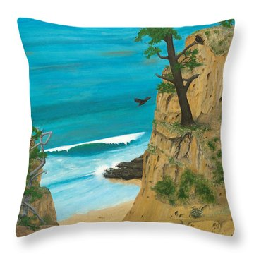 January At Torrey Pines Throw Pillow