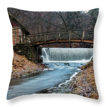 January Morning At Gomez Mill #1 Throw Pillow by Jeff Severson