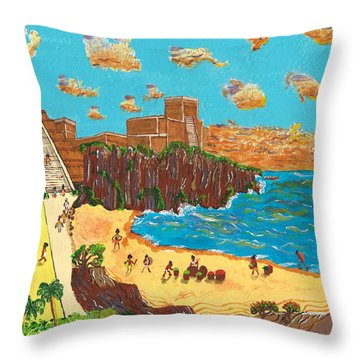 January Pyramid By The Bay Throw Pillow