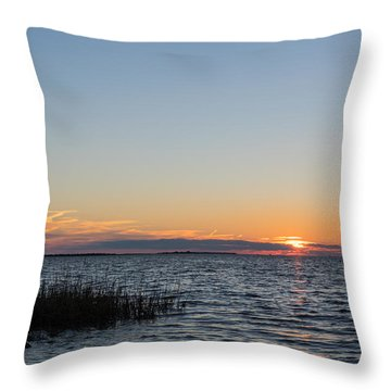 Throw Pillow featuring the photograph January Sunset by Gregg Southard