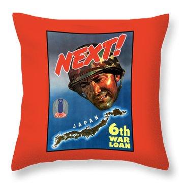 Japan Next World War 2 Poster Throw Pillow by War Is Hell Store