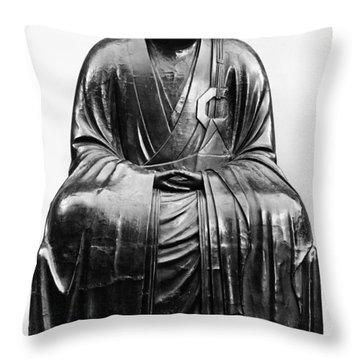 Japan: Zen Priest Throw Pillow