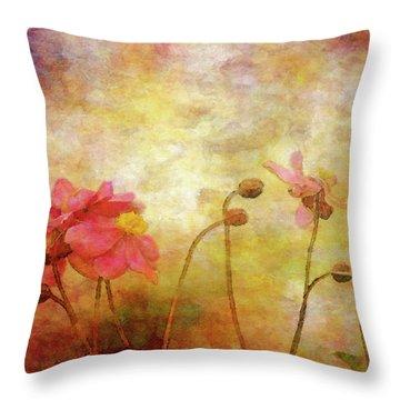 Japanese Anemone Landscape 3959 Idp_2 Throw Pillow