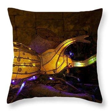 Japanese Beatle Lantern Throw Pillow