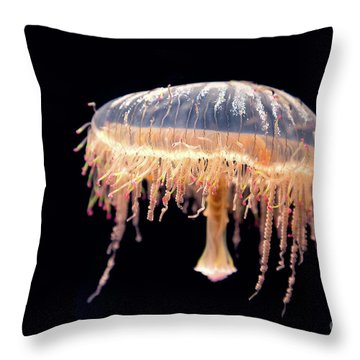 Japanese Flower Hat Jelly Throw Pillow
