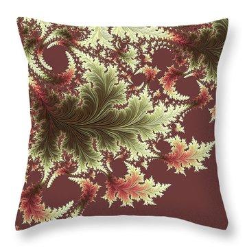 Throw Pillow featuring the digital art Japanese Garden I by Susan Maxwell Schmidt