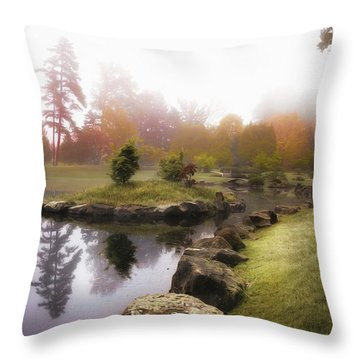 Autumn Pond Throw Pillows