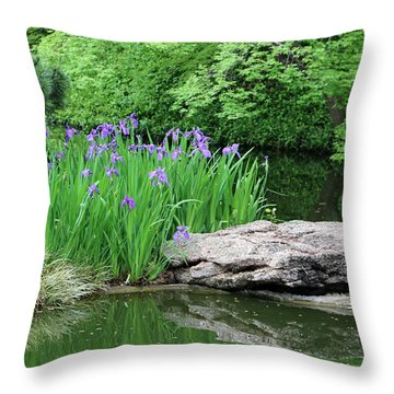 Japanese Gardens - Spring 02 Throw Pillow by Pamela Critchlow