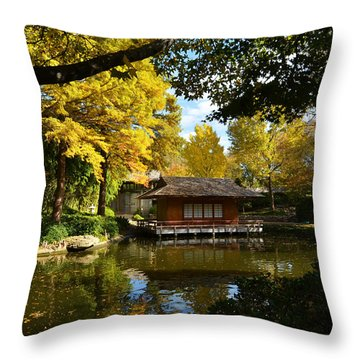 Japanese Gardens 2541a Throw Pillow