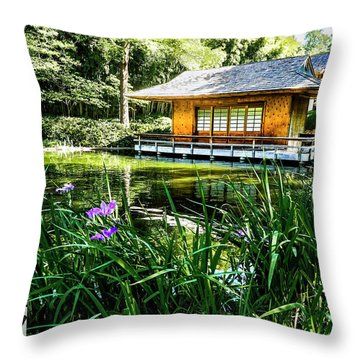 Throw Pillow featuring the photograph Japanese Gardens II by Joe Paul