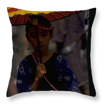 Japanese Girl Throw Pillow by Travel Pics