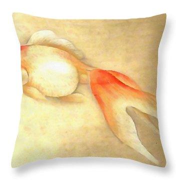 Japanese Goldfish Throw Pillow
