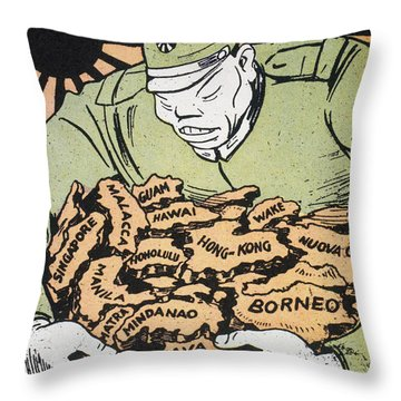 Japanese Imperialism Throw Pillow by Granger