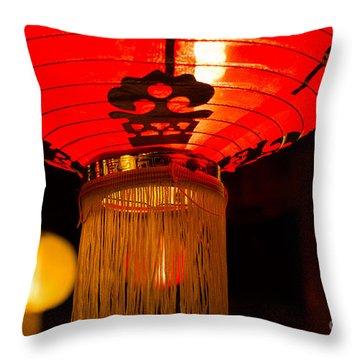 Japanese Lantern 1 Throw Pillow