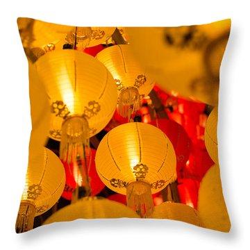 Japanese Lantern 3 Throw Pillow