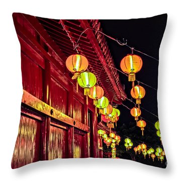Japanese Lanterns 10 Throw Pillow