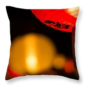 Japanese Lanterns 2 Throw Pillow