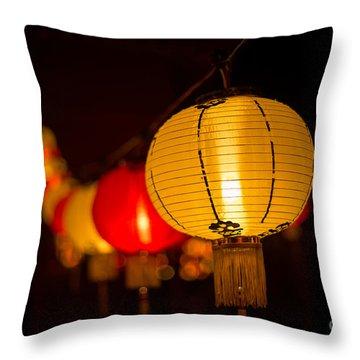 Japanese Lanterns 3 Throw Pillow