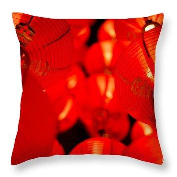 Japanese Lanterns 6 Throw Pillow
