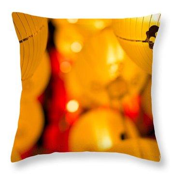 Japanese Lanterns 8 Throw Pillow