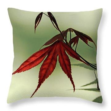 Japanese Maple Leaf Throw Pillow